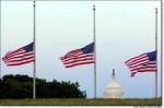 3 Flags at half-staff